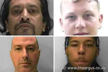 Revealed: The four most wanted men in Sussex