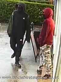 Two men threaten shop staff with meat cleaver in 'nasty' robbery