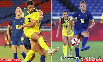 Tokyo Olympics: Matildas are robbed of a goal in soccer semi-final against Sweden