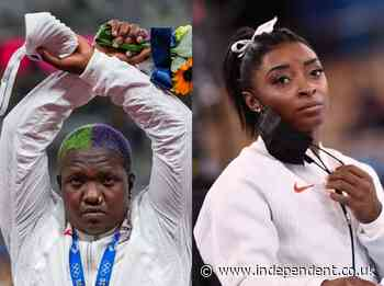 Raven Saunders Olympics protest didn't break rules, US officials say, as she's backed by Simone Biles