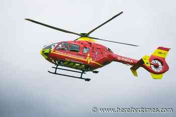 Tractor driver airlifted to hospital after Herefordshire crash