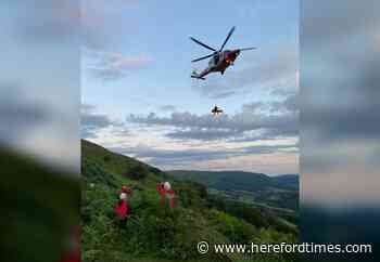 Coastguard in rescue mission between Hereford and Abergavenny