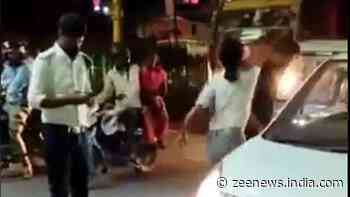 `Arrest Lucknow Girl` trends after woman thrashes cabbie, breaks his phone on busy street