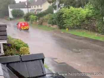 Live updates: Downpours bring flash flooding to Herefordshire