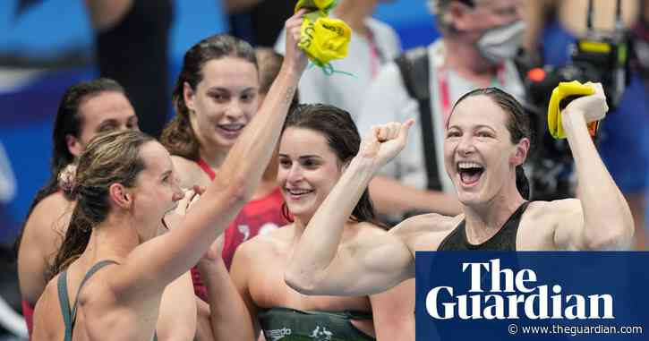 Australia's swimmers lead pack closing gap on US in Tokyo