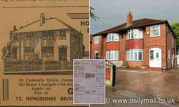 Homeowner discovers perfectly preserved advert showing artists' impression of her home on sale