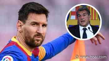 """Laporta sul rinnovo di Messi: """"Vuole restare al Barcellona, la trattativa procede bene"""""""