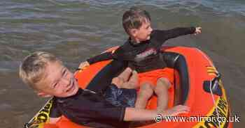 Boy screamed at mum 'am I going to die' as he was blown out to sea on dinghy