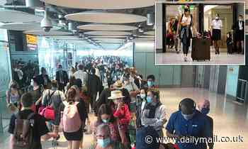 Travellers are getting caught in huge lines at Heathrow as £372m computer system keeps crashing