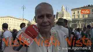 Protesta no al Green pass a Piazza del Popolo, ecco cosa ne pensano i manifestanti - il Giornale
