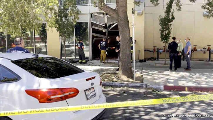 Car Ricochets Into Downtown Sacramento Building After Crash