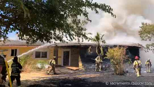 Fire Burns At Vacant Home In Vineyard