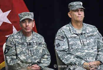 Petraeus warns US leaving Afghanistan to face 'bloody, brutal civil war'