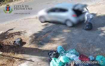fiumicino incivili foto trappole che abbandonano i rifiuti in strada - BaraondaNews