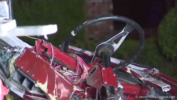 Stockton Firefighter Steering End Of Fire Truck Slammed Into Building After Crash