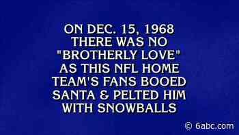 'Jeopardy!:' Matt Amodio correctly guesses Philadelphia Eagles fans threw snowballs at Santa Claus - WPVI-TV