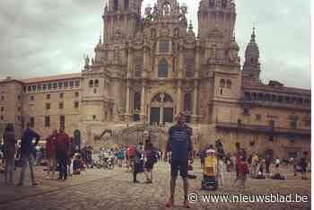 Hans Jünger bereikt de kathedraal van Santiago De Compostella
