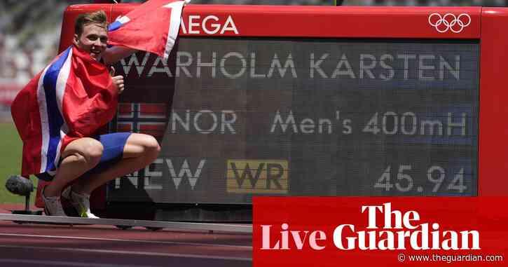 Tokyo 2020 Olympics: Karsten Warholm smashes 400m hurdles world record, cycling and more – live!
