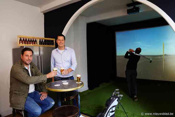 "Ex-profvoetballer Frank Boeckx start samen met vrienden golfclub boven Gents café: ""Virtueel kan je hier balletje slaan"""