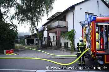 Brand einer Scheune in Eppelheim - Straße zwischenzeitlich gesperrt - Schwetzingen - Nachrichten und Informationen - Schwetzinger Zeitung