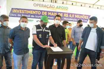 Gladson assina ordem para manutenção de ramal em Assis Brasil e anuncia R$ 6,2 milhões - ac24horas.com