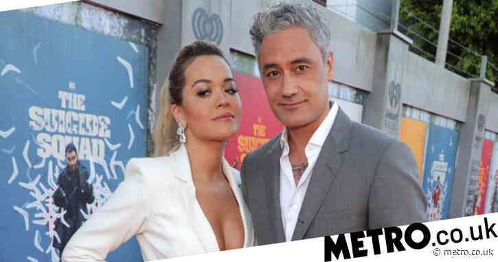 Rita Ora and Taika Waititi giddy in love as they hold hands and make red carpet debut at The Suicide Squad premiere