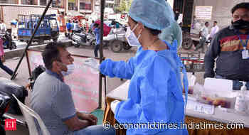 India adds 30,549 coronavirus infections, active cases fall after six days - Economic Times