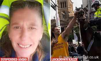 Covid anti-lockdown protest Sydney: Paramedic Sally-Ann John suspended by NSW Ambulance