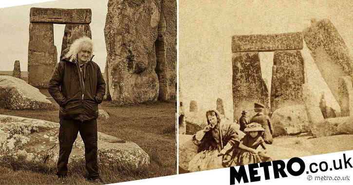 Oldest family photo ever taken at Stonehenge found in Brian May's collection