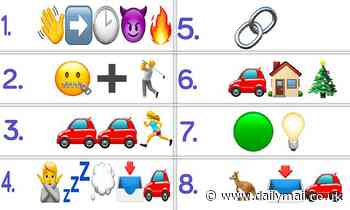 Tricky emoji quiz challenges players to name 14 popular songs inspired by driving