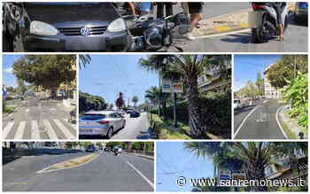 Sanremo: incidente in largo Nuvoloni diventa un caso, cartello di direzione obbligatoria nascosto da una palma (Foto) - SanremoNews.it
