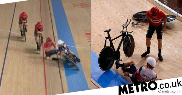 'F*** them!' – Danish cyclist rages after crashing into Team GB straggler in Olympic men's team pursuit