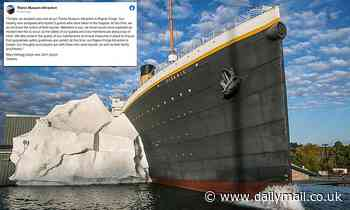 Three visitors are hospitalized after iceberg wall collapses at Tennessee Titanic museum