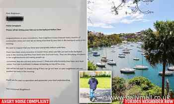 Mosman, Sydney neighbour leaves note saying kids should be BANNED from playing outside before 9am