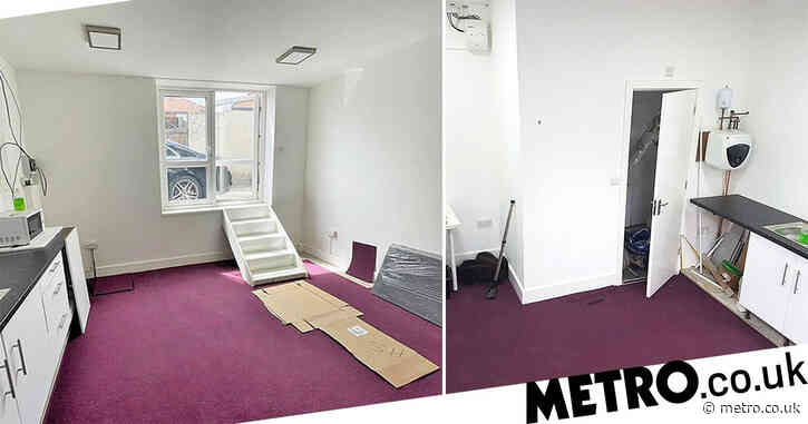 London studio flat you can only enter through the window available for £750 a month