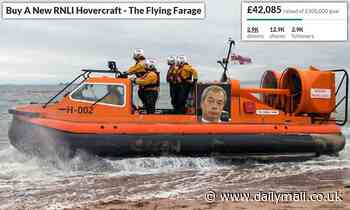More than £40,000 raised for Royal National Lifeboat Institution hovercraft 'The Flying Farage'