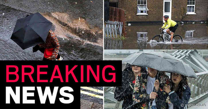 Met Office issues warnings for 14 hours of storms to hit UK before weekend