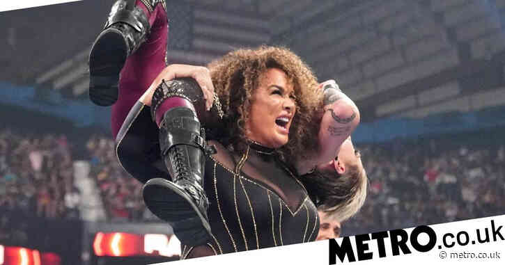 WWE star Nia Jax covered in blood after suffering gruesome cut above her eye during Rhea Ripley match