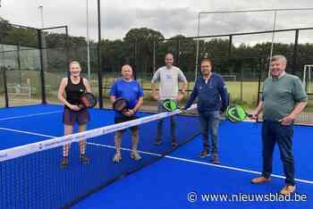 Nieuwe padelterreinen bij TC De Nethe dankzij financiële steun eigen clubleden