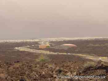 Record wildfire burns amid drought on Hawaii's Big Island