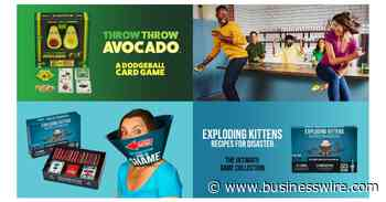 Exploding Kittens Announces Franchise Expansion With Two New Games - 'Throw Throw Avocado' and 'Exploding Kittens: Recipes for Disaster' - Business Wire