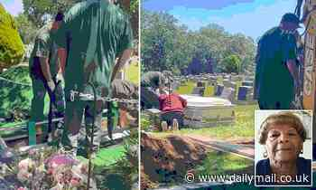 Moment Brooklyn cemetery staff tried to shove coffin into grave that was too small