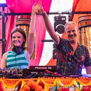 Fatboy Slim's 11-year-old daughter performs set at Camp Bestival