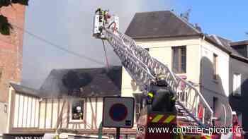 Un incendie détruit une maison dans le centre-ville d'Eu - Le Courrier picard