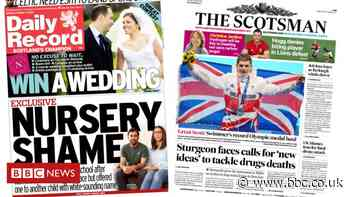 Scotland's papers: Swimming success and nursery 'discrimination' claim - BBC News