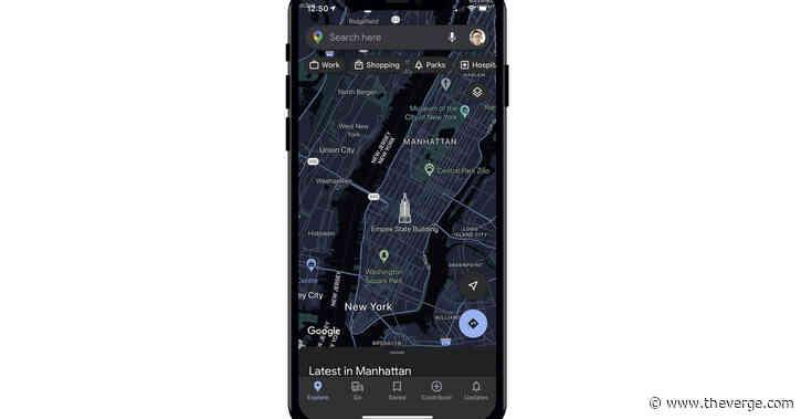 Google Maps on iOS is finally getting a dark mode