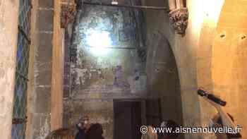 La basilique de Saint-Quentin à la tombée de la nuit - L'Aisne Nouvelle