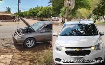Chocan dos automóviles en Ejido Compuertas en Ahome - Debate