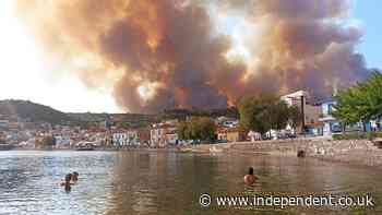 Residents evacuated and Greece forced to close Acropolis as fires rage close to Athens