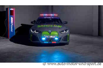 BMW i4 M50 Safety Car für die MotoE: Erster Elektro-M im Einsatz - auto motor und sport